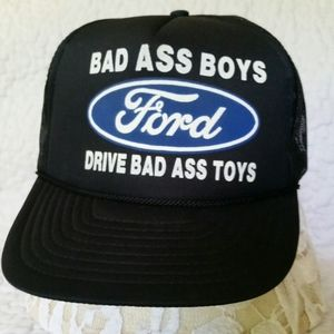 "Vintage FORD ""Bad Boys Drive.."" Black Truc…"